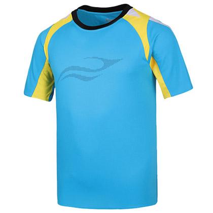 波力1CTM15027男士羽毛球服 湖蓝色