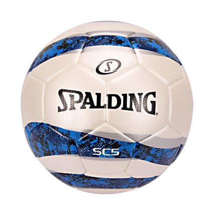 斯伯丁SPALDING足球 SC5波浪白/蓝迷彩5号热粘合足球 64-934Y