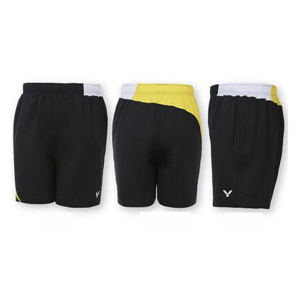 胜利VICTOR 羽毛球短裤 R-6090CE 中性款 黄色款(韩国队大赛服)