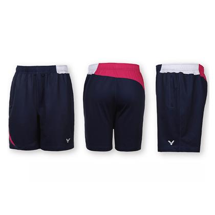 胜利VICTOR羽毛球短裤 R-6090BQ 中性款 玫红色(韩国队比赛款)