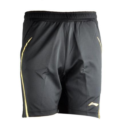 李宁AAPL111-3男款羽毛球短裤 里约奥运会队服 黑色(AT DRY吸湿排汗)