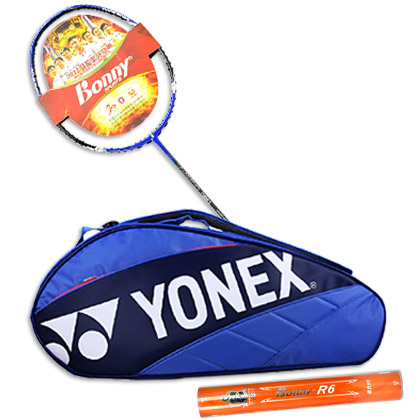 波力N901球拍+YONEX羽毛球包BAG7623EX +波力R6球超值套装 开学必备