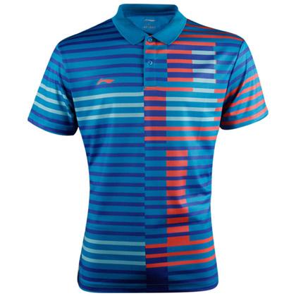 李宁羽毛球服 短袖 男款 AAYL033-1 亮蓝色