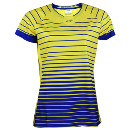 李宁羽毛球服 短袖 女款 AAYL038-1 酪黄色