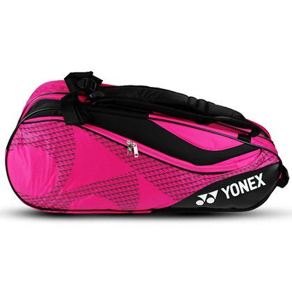 尤尼克斯YONEX羽毛球包 BAG-8726EX 双肩 6支装 亮粉 独立鞋袋
