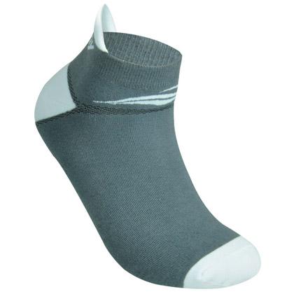 波力Bonny运动袜 SK-57 灰/白 中性款(适合羽毛球、跑步等运动)