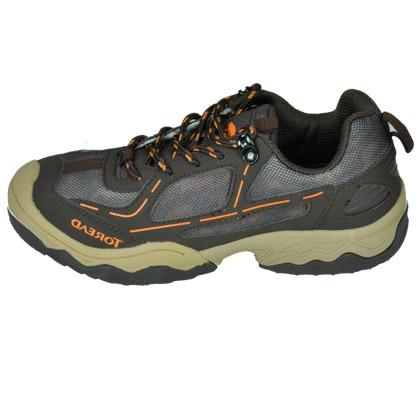 探路者KIDS 儿童徒步鞋户外鞋 咖啡棕 迷你印花舒适儿童徒步鞋