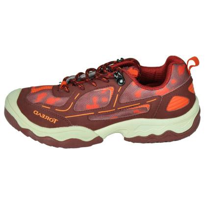探路者TOREAD 徒步鞋 TAEJ55301 瑰木红 迷你印花舒适儿童徒步鞋