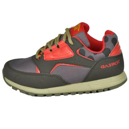 探路者KIDS 儿童徒步鞋TAEJ55305 咖啡棕 迷你印花舒适儿童徒步鞋