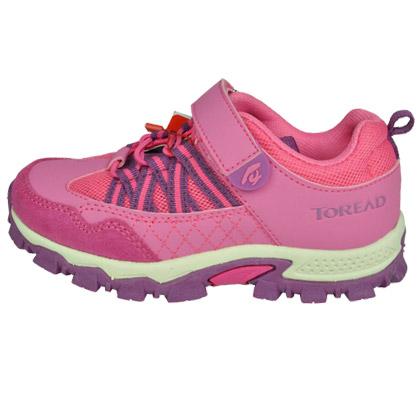 探路者KIDS儿童登山鞋 TAEJ55101 童鞋 经典粘袢登山鞋 晚樱紫