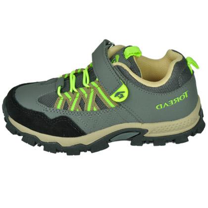 探路者KIDS 儿童登山鞋TAEJ55101 童鞋 炮铜灰 经典粘袢登山鞋