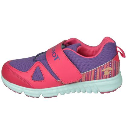 探路者KIDS 儿童跑步鞋TAEJ51501 童鞋 名族印花粘袢 露莓紫