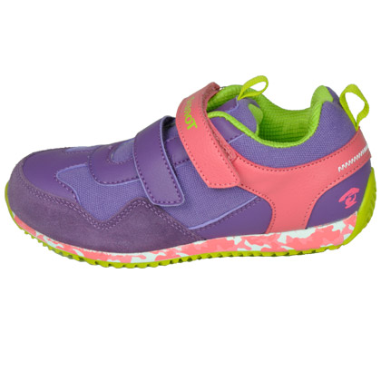 探路者KIDS 儿童徒步鞋 TAEJ51306 童鞋 双粘袢迷彩底印 露莓紫