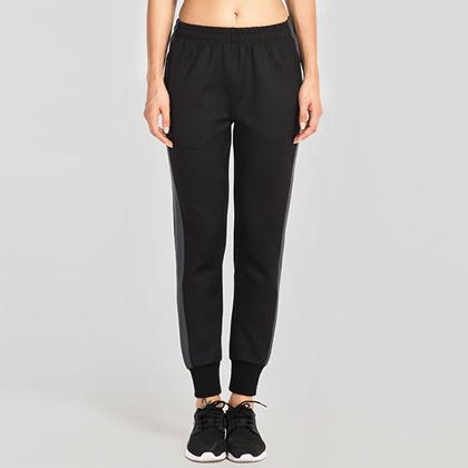 范斯蒂克 女款束腿跑步长裤 运动长裤 FBF715502 黑色(经典搭配,永不过时)