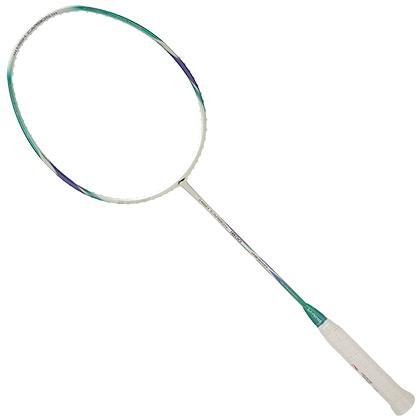 李宁羽毛球拍 HC1800 白绿色(性价比进攻之选,波浪拍框,进攻利器!)