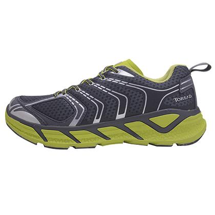 探路者 男式户外跑鞋 越野跑鞋深灰/明黄绿(强防护,高回弹) KFFF91326-G08D