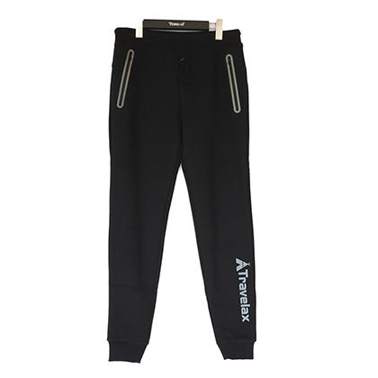 探路者男裤 新款户外针织运动裤透气舒适休闲训练长裤 TAMF91765-G01X黑色(防风保暖,舒适百搭)