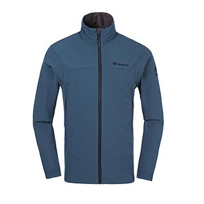 探路者软壳外套 HAEF91021-C27X 男款 铁蓝灰(户外商务新风尚)