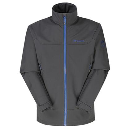 探路者 男式越野软壳外套 HAEF91021-G28X 炭灰(立体剪裁,保暖耐磨)