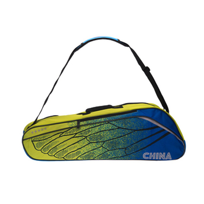李宁羽毛球包 ABJM082-2 六支装 黄蓝色 双肩包(轻翼有型,3M反光)