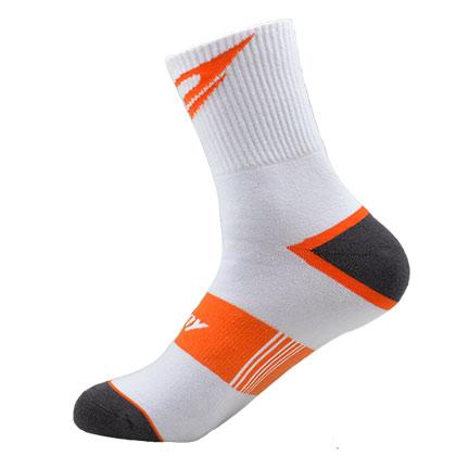 波力运动袜  SK-52 白/橘(适合羽毛球、跑步等多项运动)