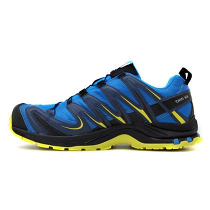 Salomon 萨洛蒙男款防水透气山地越野跑鞋 XA PRO 3D GTX 亮蓝色(防水升级,强力抓地)