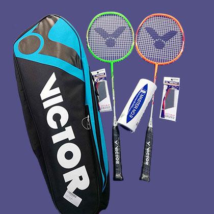 勝利VICTOR羽毛球拍套裝 JS-DF001,你來我往 情侶雙拍 雙劍合璧,專業而耐用!