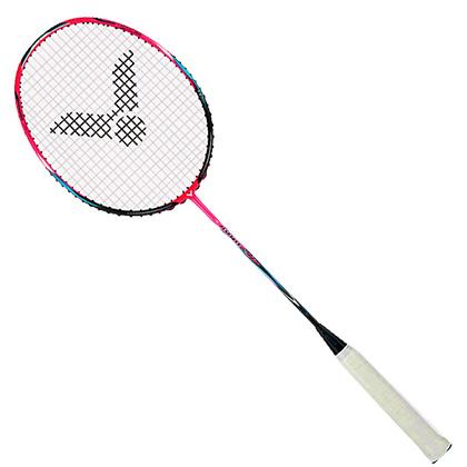 胜利VICTOR羽毛球拍 JS-11Q(极速11Q)艳玫红(疾劲能量弓,薄翼拍框)