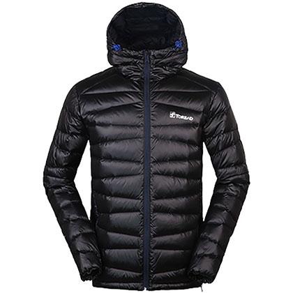 TOREAD探路者男式超轻羽绒服-黑色 HADF91147-G01X(防寒保暖,超轻耐洗)
