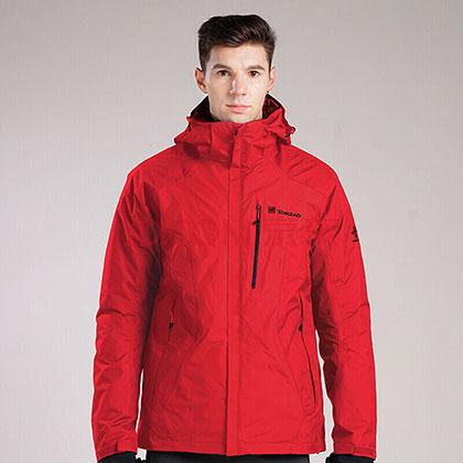 TOREAD探路者男式套绒冲锋衣-杜鹃红 KAWF91381-A70X(防寒保暖,防水渗透)