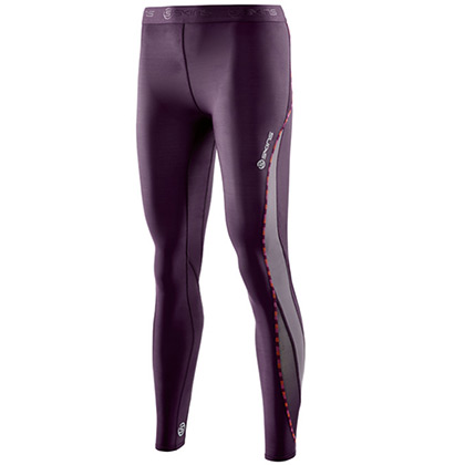SKINS思金斯 DNAmic女款梯度压缩长裤 HAZE 紫色DA99060011007(精准压缩,硅胶防滑)