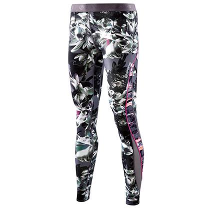 SKINS思金斯 DNAmic女款梯度压缩长裤 HAZE 花卉DA99060015004(精准压缩,硅胶防滑)