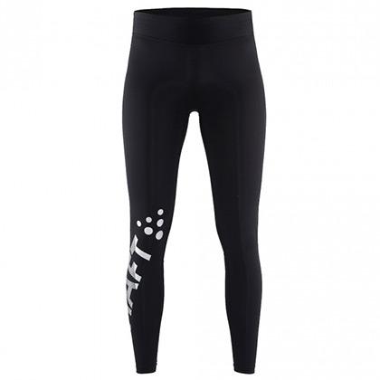 CRAFT 夸夫特 Delta 2.0男款保暖压缩紧身裤 1905428 黑色/荧光黄(立体裁剪,防寒保暖)