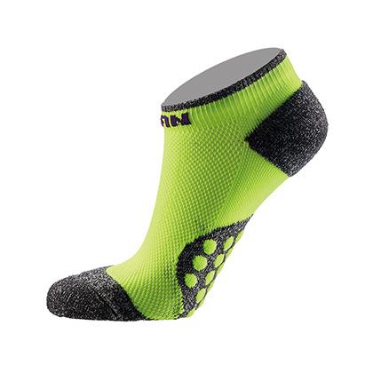 泰昂机能运动袜 TRA8201女款3D豆船袜 莹黄(防滑耐磨,弹性舒适)
