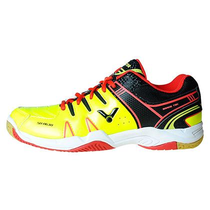 胜利VICTOR羽毛球鞋 SH-A610CE 黄黑色适合趾尖形状较为圆弧的使用者