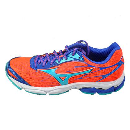 美津浓MIZUNO跑步鞋 WAVE CATALYST 女 珊瑚红/水蓝/蓝 J1GD163331