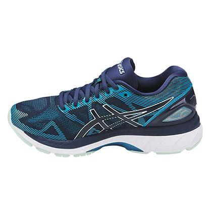 ASICS 亚瑟士 GEL-NIMBUS 19 缓震慢跑鞋 女 T750N-5067 藏青色/褐色(强力缓震,稳定支撑)