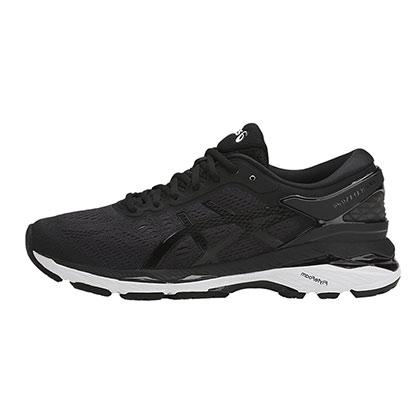 ASICS 亚瑟士 GEL-KAYANO 24 稳定慢跑鞋 k24 女 黑色/白色(跑鞋之王,缓震支撑)