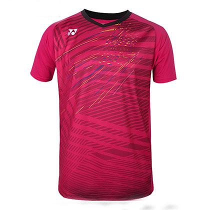 尤尼克斯YONEX羽毛球T恤 10216CR-001  男款 红色(YONEX球星赞助款)