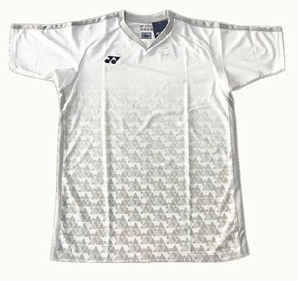 尤尼克斯YONEX羽毛球T恤 10219CR-011 男款 白色(约根森赞助款同款)