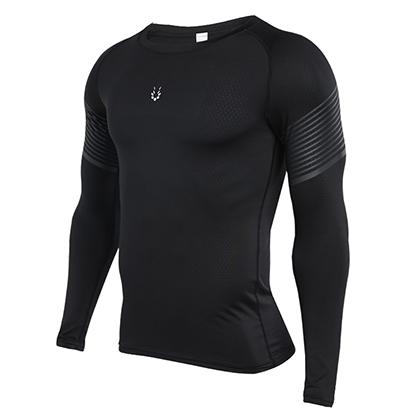 范斯蒂克 男款 速干运动长袖上衣 MBF72703 浅灰流光 (排汗速干,清爽透气)