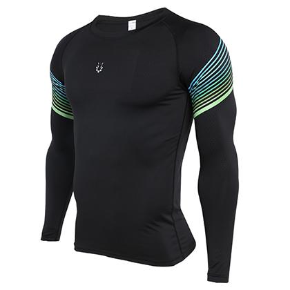 范斯蒂克 男款 速干运动长袖上衣 MBF72702 蓝绿流光(排汗速干,清爽透气)
