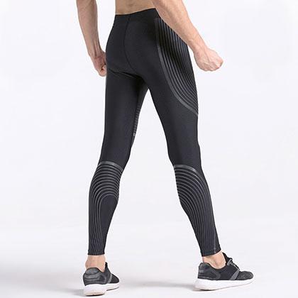 范斯蒂克 男款 加绒跑步裤 健身裤 MBF135 浅灰流光(加厚保暖,吸湿排汗)