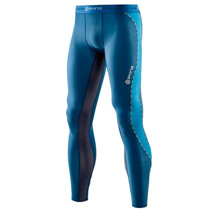 SKINS思金斯 男款DNAmic梯度压缩长裤 蓝色(梯度压缩,高倍支撑)