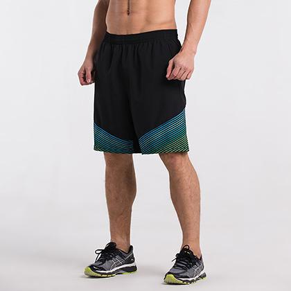范斯蒂克 男款跑步健身短裤 速干跑步短裤 MBF70506 蓝绿流光(轻如蝉翼,速干透气)?