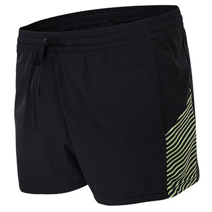 范斯蒂克 女款跑步健身短裤 速干跑步短裤 FBF70305 黄色流光(轻如蝉翼,速干透气)?