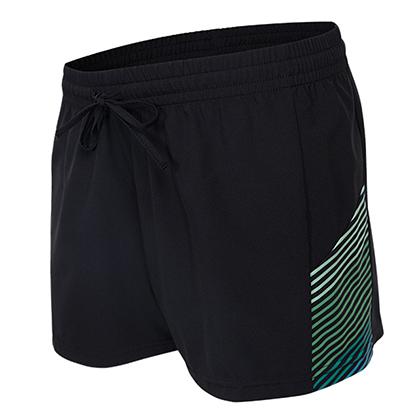 范斯蒂克 女款跑步健身短裤 速干跑步短裤 FBF70302 蓝绿流光(轻如蝉翼,速干透气)?
