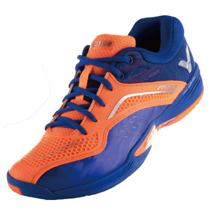 胜利VICTOR 羽毛球鞋 A960-OF 全面型 荧光橘/岸浪蓝(舒适,稳定)