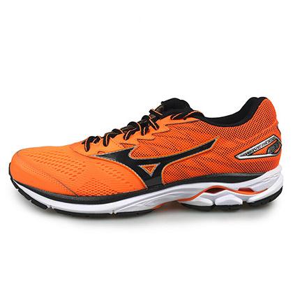 美津浓MIZUNO跑步鞋 WAVE RIDER 20 J1GC170313 男款 荧光橙/黑/银