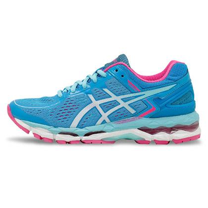 Asics亚瑟士跑步鞋 K22女款跑鞋 蓝色/白色/水蓝色 (爱世克斯跑鞋KAYANO 22,货号T597N-4001)